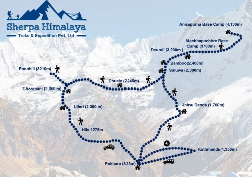 Annapurna-Base-Camp-Trek-route-map