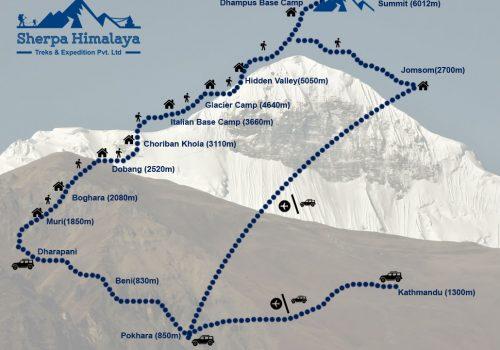 Dhampus-Peak-map