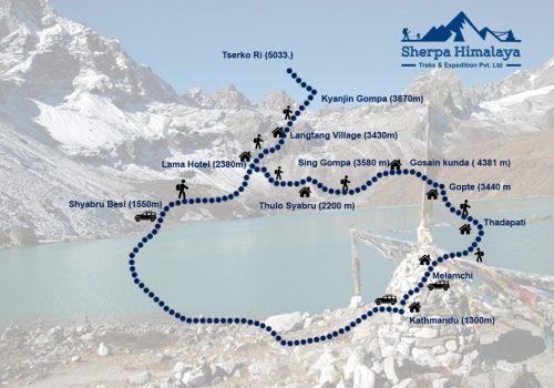 Langtang-Valley-with-gosaikunda-lake-trek-map