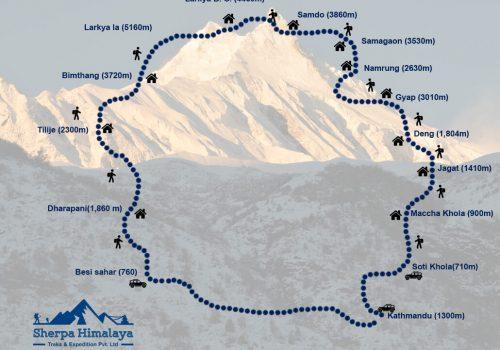 Manaslu-Circuit-Trek-Map