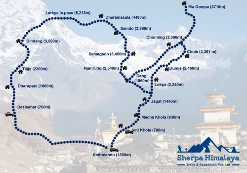 Manaslu-Circuit-with-tsum-valley-trek-map