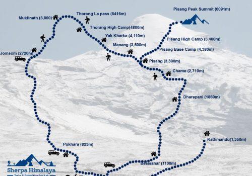 Pisang-Peak-map