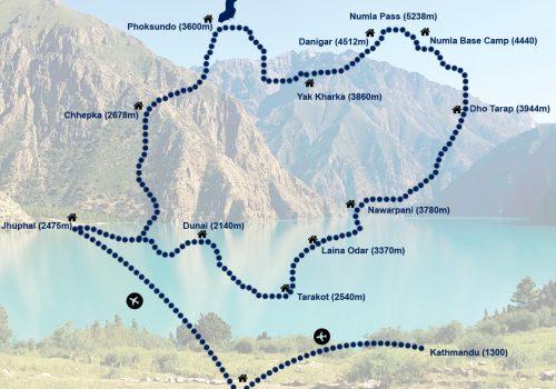 Dolpa-Circuit-Trek-map
