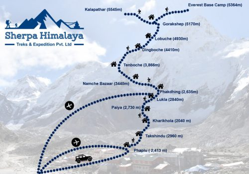 Phaplu-to-Everest-Base-Camp-trek-route-map